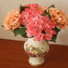 New Faux Artificial Flower Bouquet Hydrangea Home Hotel Floral Decor