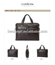 beach bag for men factory wholesale men genuine leather hand bag