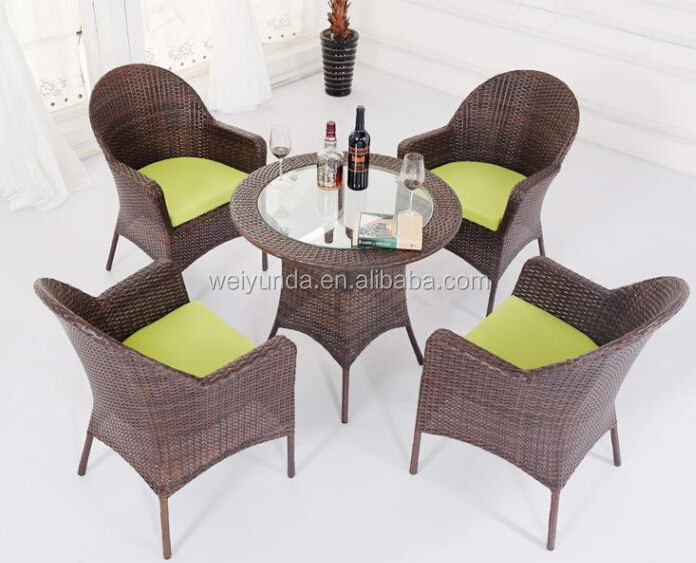 2015 Garden outdoor rattan/wicker furniture dining sets for sale
