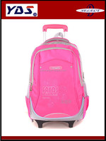 2015 trolley school bag, school bag with wheel,kids school bag