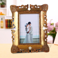 2015 exquisite handmade variety photo frame fashionable hollow out wholesale square sixy photo frame pendant 4x6 inch gold BY001