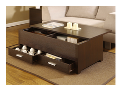 High quality Dark Espresso Storage Box Coffee Table/ used coffee tables for sale