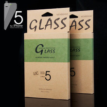 """JJL Tempered Glass Screen Protector For iPhone 5S (0.3mm 4"""" Straight Edge 9H HD Clear)"""