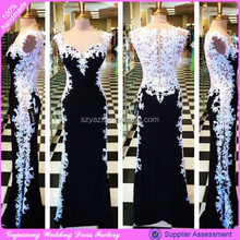 DL-206 black long sweetheart patterns of lace evening dress alibaba china