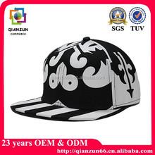 Flat brim custom snapback cap/fitted cap/print logo cap