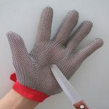 resistente al corte guantes de carne en la forma de hauberk a partir de acero inoxidable