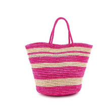 Custom patterns 2015 hot sale fashion straw shopping bag tote bag