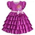 diseño de moda barata princesa niña vestido de flores