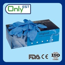 Meet EN388 AQL2.5 highly chemical resistant colored nitrile exam glove