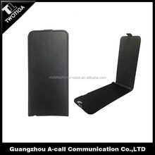high quality leather flip case for iphone 6 plus with magnetic closure