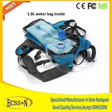 6.5W portable solar power charger bag, solar panel bag for outdoor