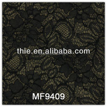 cotton embroidery african velvet black lace fabric
