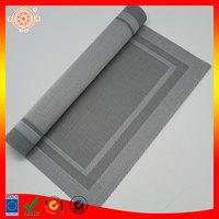 table mat big size rectangle gray pvc plastic place mat