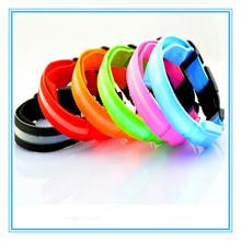Pet 2015 hot sale nylon LED dog collar remote control led flashing dog collar