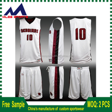 Custom sublimation basketball jersey and shorts team wear