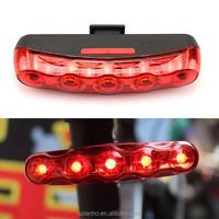Cycling Bike 5 LED Red Rear Tail Back Big Eyes Flashing Warning Lamp Light