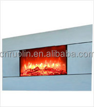 Wall mounted Electric Fireplace with remote, Glass Frame electric fireplace