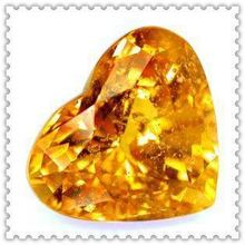 Fashion factory price trillion diamodn yellow color cubic zirconia for jewelry/bead wholesale