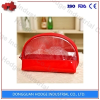 Fashion Beautiful Transparent Clear Pvc Cosmetic Bag With Handle