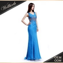 Romantic blue dress party gown images for fashion ladies