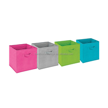 colorful fabric toy storage box folding storage cube