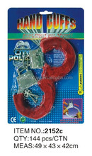 Cute design METAL Red FURRY HANDCUFFS of blister packing
