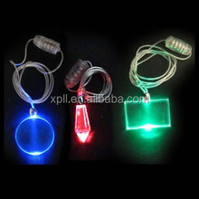 Electric flashing necklace/LED light necklace/flashing glow necklace as promotion