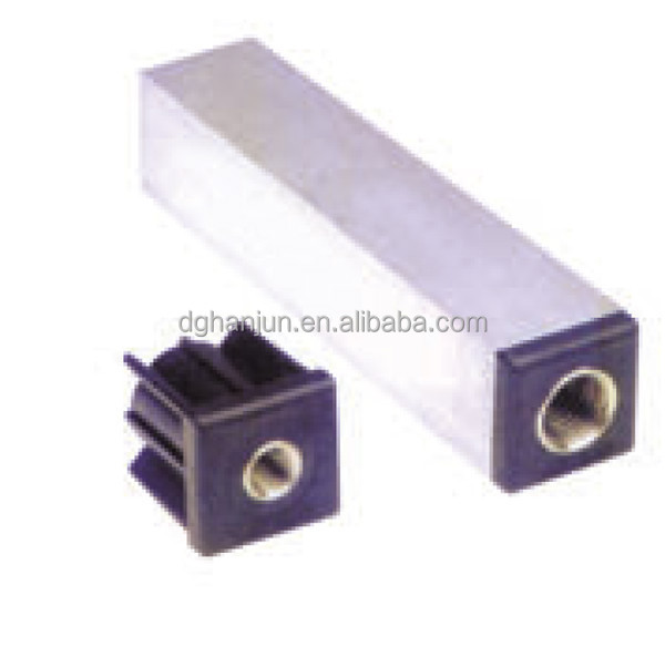 Threaded tube ends for square plastic end caps