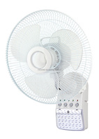 14 inch rechargeable emergency wall mounted fan with LED light
