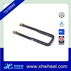 High strength truck spare parts square u bolts and nuts for leaf spring