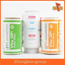 Relief printing OEM wholesale custom adhesive water soluble labels for bottles
