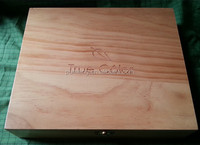 Pine Wood Essential Oils Packaing Box with Laser Engraved Logo
