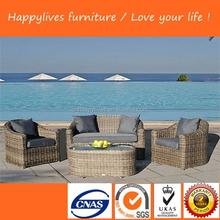 Heated rattan gazebo garden furniture rattan home casual outdoor furniture Garden Outdoor Patio Sofa Set (HL-9107)