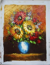 the newest design Decoration flower oil paintings famous oil paintings