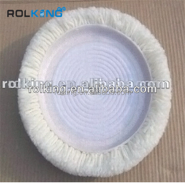 wool felt nonwoven buffing pad for car