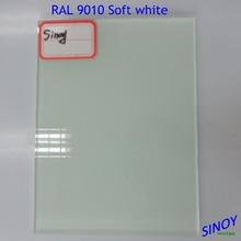 White Lacquered Glass / White Color Back Painted Glass, RAL 9010 RAL 9003 painted glass