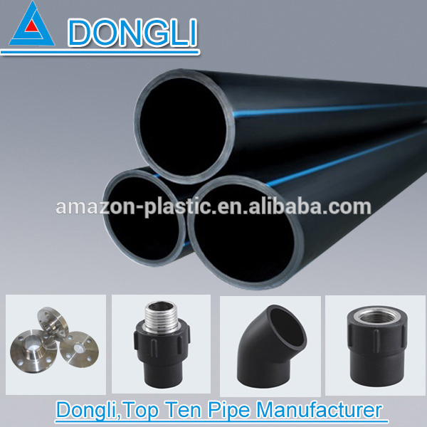 Environmental hdpe plastic pipe and fittings for water