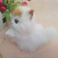 stuffed handmade real looking cute lucky moving cat animation