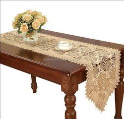 machine made lace tablerunner with embroidery and cutwork 16x72