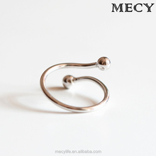 MECY LIFE Korean design S925 sterling silver personality fresh sweet simple fashion girl opening female adjustable rings