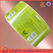 OEM product description sticker permanent sticker private label