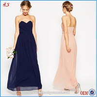New arrived nice simple sweetheart design evening gown evening dress 2015
