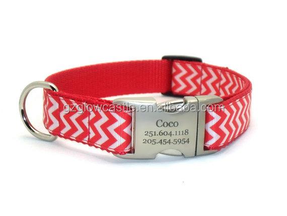 Chevron Stripe Personalized Dog Collar (1).jpg