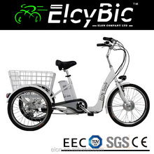250w electric tricycle 36v 10ah lithium battery 3 wheel electric bike