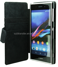 Hot Selling sublimation wallet cellphone case for Sony Z1 L39H