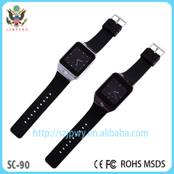 Lateset design low price high end bluetooth android smart watch phone