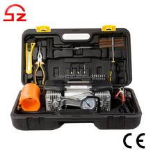 Double cylinder high pressure 12v air compressor with case
