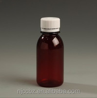 100ml 250ml recycled pet amber plastic tablets pill bottle for sale
