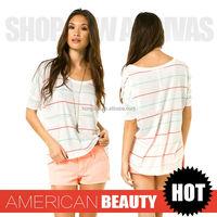 Women clothing 2015 Summer lady fashion digital printing t-shirt HGS1029