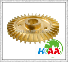 2015 china manufacturer Water Pump Part Double Side Gold Tone Brass Impeller 60mm Dia special custom service provided